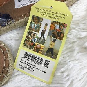 fa8373c9ea3 Toms Shoes - NWT Toms navy slub chambray Clara espadrilles sz 9